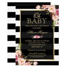 black and white baby shower invitations u0026 announcements zazzle