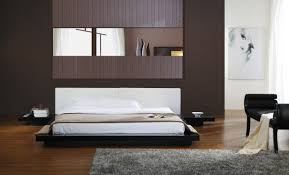 Japanese Style Platform Bed Modrest Opal Black Gloss Japanese Style Platform Bed