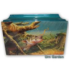 cremation boxes cremation boxes for ashes bass fishing box urn garden