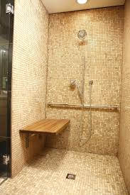 Small Bathroom Stools Bathroom Exciting Oceanside Glass Tile Wall With Glass Shower