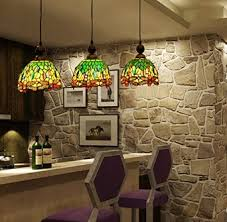 Stained Glass Light Fixtures Dining Room Buy Makenier Vintage Style Stained Glass 3 Light Dragonfly