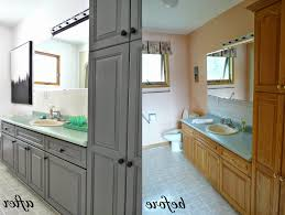 gray stained kitchen cabinets calm nuanced beige paint walls