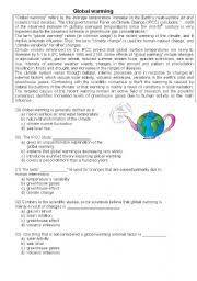 global warming pollution the environment multiple choice