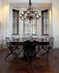 Contemporary Dining Room Chandeliers L1430k8 8 Light Smoky Murano Glass Modern Chandelier Modern