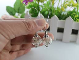 eco earrings 10pairs 16mm glass globe dandelion seed earrings eco earring wish