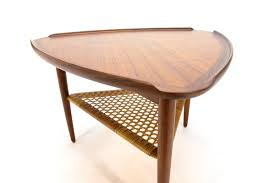 triangular side table by poul jensen for selig arroyo artifacts