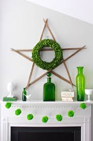 spring green mantel home with decor 2 bees in a pod