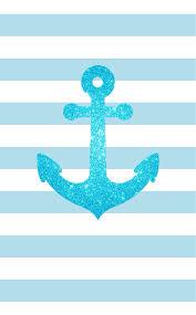 blue glitter anchor blue white stripes iphone phone wallpaper