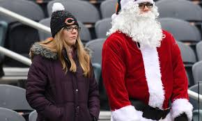 deliver presents santa may be busy attending nfl to deliver presents on