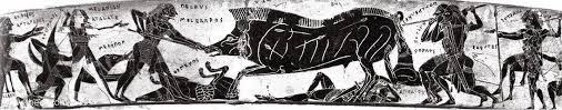 Francois Vase Calydonian Boar Hunt Ancient Greek Vase Painting