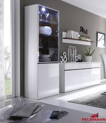 modern living room display cabinet showcase high gloss white