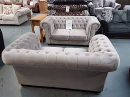 Chesterfield Sofa On Sale by Brand New 2 2 Silver Velvet Chesterfield Sofa On Sale From 1334