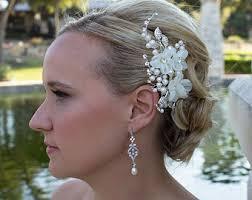 wedding flower hair wedding hair flower etsy
