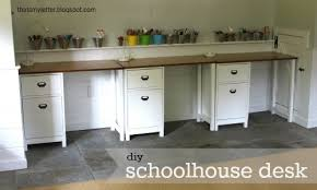 Build A Desk With Drawers Ana White Schoolhouse Desk Single Pedestal Diy Projects