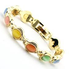 magnetic gold bracelet images Natural semi precious stones magnetic luxury gold bracelet for jpg