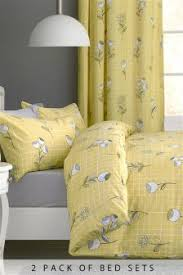 Yellow Bedding Set Yellow Bedding Floral Printed Yellow Bedding Next Uk