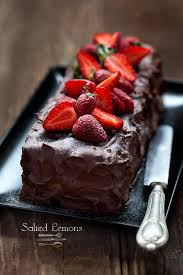 chocolate cake with strawberries sweet treats pinterest