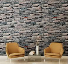 birwall cultural faux brick stone wallpaper 3d kitchen living home birwall cultural faux brick stone wallpaper 3d kitchen living home decoration 42 multicolored amazon com