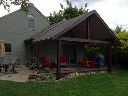 Insulated Patio Roof by Gabled Patio Cover Backyard By Design