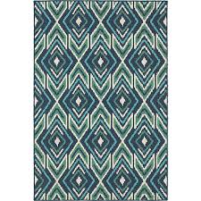 Green Outdoor Rug Blue And Green Meridian Transitional Indoor Outdoor Rug American