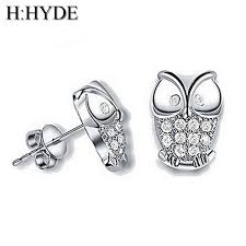 owl stud earrings h hyde vintage earrings for women owl stud earrings