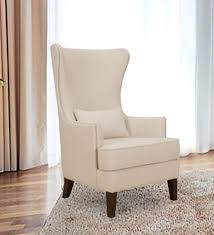 Beige Wingback Chair Buy Zaletha Wingback Chair In Dark Beige Colour By Madesos Online