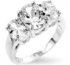 4 carat cubic zirconia engagement rings jucinda three oval cut engagement ring 4 carat cubic