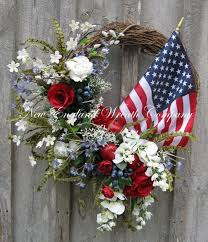 patriotic wreath americana wreath fourth of july decor memorial