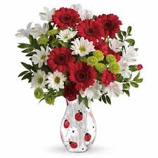 cheap flowers online lovely ladybug bouquet at send flowers