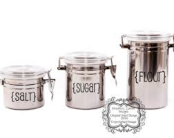kitchen canister labels 12 pack vinyl decals pantry