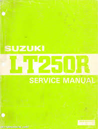 1986 suzuki lt250r atv service manual