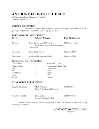 Sample Resume Character Reference by Sample Resume For Call Center Agent Fresh Graduate Templates