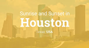 sunrise and sunset times in houston