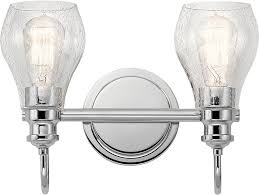 Kichler CH Greenbrier Contemporary Chrome Light Bath Light - Bathroom lighting fixtures chrome 2