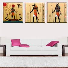 online get cheap art egypt aliexpress com alibaba group 3 panels egyptian decor canvas art modern abstract painting wall decor pictures for living room egypt