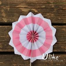 paper fan circle decorations light pink 12 wall hanging wedding decorative round tissue paper