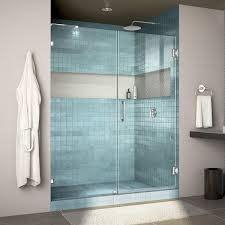 dreamline unidoor 57 60 in frameless hinged shower door not