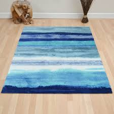Blue And Red Striped Rug Boca Oslo Rugs Bc11 In Blue Free Uk Delivery The Rug Seller