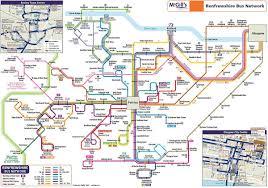 Map Of Glasgow Scotland Glasgow Bus Map Glasgow Bus Route Map Scotland Uk