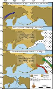 map of america 20000 years ago settlement of the americas