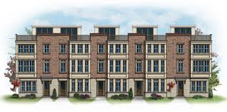 beazer launches key s overlook 53 new townhomes in locust point patriot 5 unit building front crop