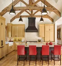 vaulted kitchen ceiling ideas cool vaulted ceiling beams kitchen with wood trusses gray countertop