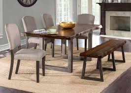 hillsdale emerson rectangle dining table gray sheesham 5925dt