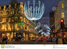 New Christmas Lights by Christmas Lights On New Bond Street London Uk Editorial Stock