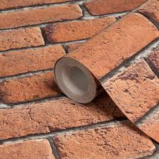 colours red brick effect wallpaper red wallpaper bricks and