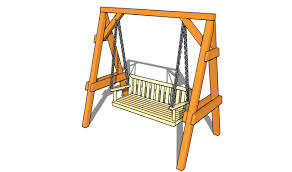 outdoor wooden swing plans how to build a freestanding arbor swing