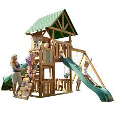 southampton wood complete ready to assemble swing set kit big