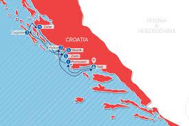 Scc Map Cycle Croatia Cruises Sail Croatia 7 Day Cycle Cruises