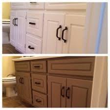 My Painted Bathroom Vanity Before - my bathroom with 80 u0027s honey oak cabinets before update with annie