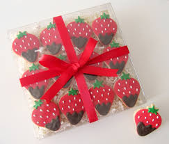 Strawberry Decorations Decorations Sweet Red Strawberies Chocolate Box Gift For